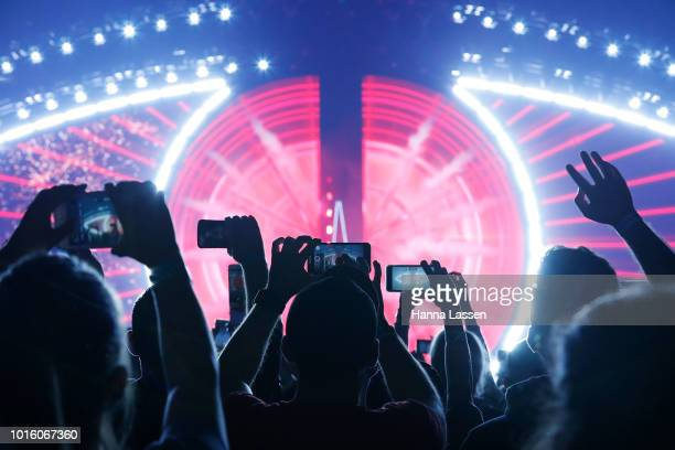 Atmosphere as Katy Perry performs during her 'Witness' tour at Qudos Bank Arena on August 13 2018 in Sydney Australia