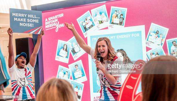 Atmosphere as Kirstie Allsopp and Phil Spencer tour the UK this summer to inspire Britain's households to choose a smart meter visiting the Merryhill...