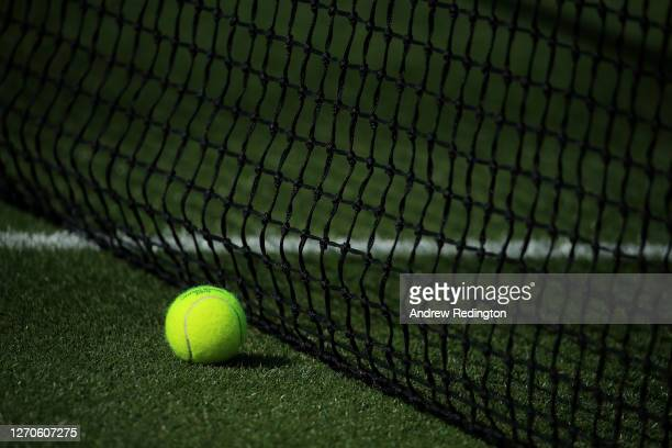 Atmosphere as London Mayor Sadiq Khan plays tennis with key workers at the All England Lawn Tennis Club at Wimbledon on September 04 2020 in London...