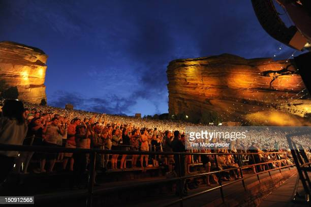 Atmosphere as Mumford Sons performs at Red Rocks Amphitheatre on August 28 2012 in Morrison Colorado