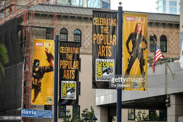 Atmosphere as San Diego Prepares For ComicCon International 2018 on July 18 2018 in San Diego California