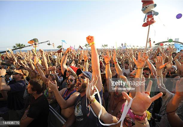 Atmosphere as The Flaming Lips perform at Day 3 of the 2012 Hangout Music Festival on May 20 2012 in Gulf Shores Alabama