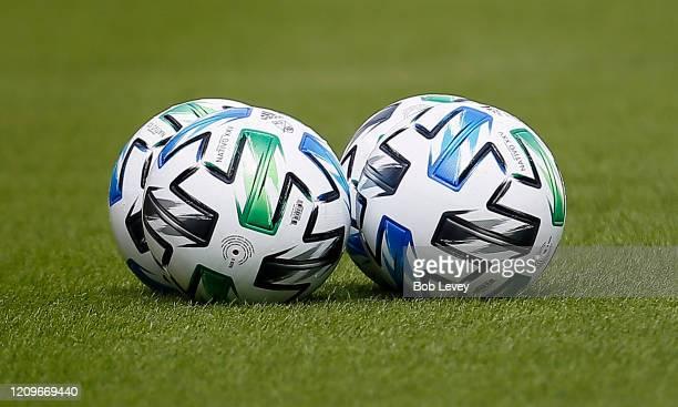 Atmosphere as the Los Angeles Galaxy play the Houston Dynamo at BBVA Stadium on February 29 2020 in Houston Texas