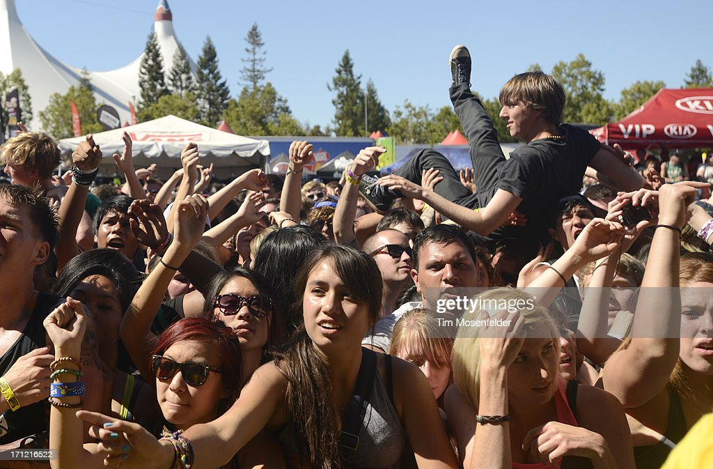 Atmosphere as The Wonder Years perform as part of the Vans Warped Tour at Shoreline Amphitheatre on June 22, 2013 in Mountain View, California.