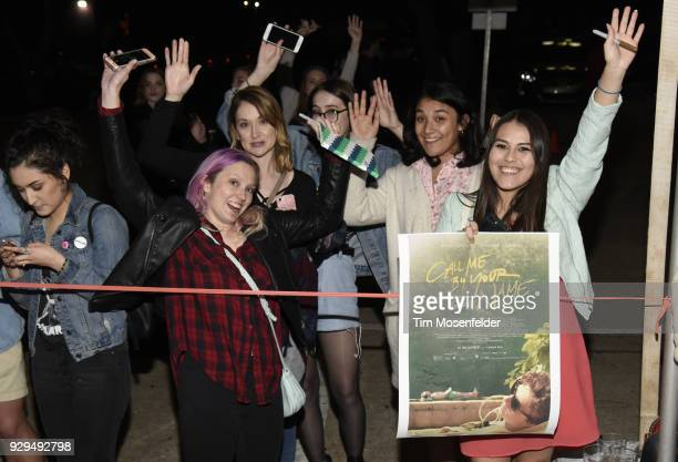 Atmosphere as Timothee Chalamet fans attend the 2018 Texas Film Awards at AFS Cinema on March 8 2018 in Austin Texas