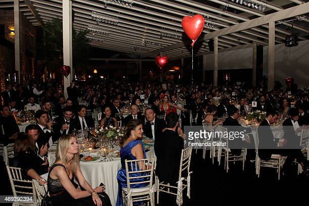 Atmosphere at 5th Annual amfAR Inspiration Gala at the home of Dinho Diniz on April 10 2015 in Sao Paulo Brazil