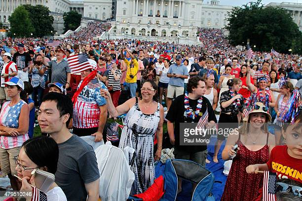 Atmosphere at A Capitol Fourth 2015 Independence Day concert at the US Capitol West Lawn on July 4 2015 in Washington DC