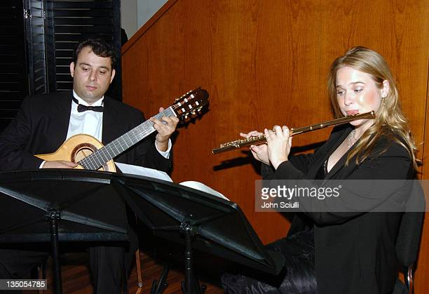 Atmosphere at a reception after a concert with YoYo Ma featuring the film music of Ennio Morricone with the members of the USC Thornton Symphony and...