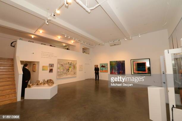Atmosphere at Amare Stoudemire hosts ART OF THE GAME art show presented by Sotheby's and Joseph Gross Gallery on February 15 2018 in Los Angeles...