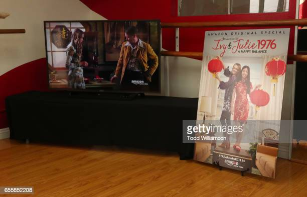 Atmosphere at an Amazon Original Special An American Girl Story Ivy Julie 1976 A Happy Balance Photo Call with Nina Lu Hannah Nordberg and Olympic...