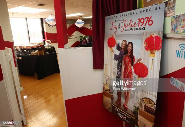 """Atmosphere at an Amazon Original Special """"An American Girl Story - Ivy & Julie 1976: A Happy Balance"""" Photo Call with Nina Lu, Hannah Nordberg and..."""