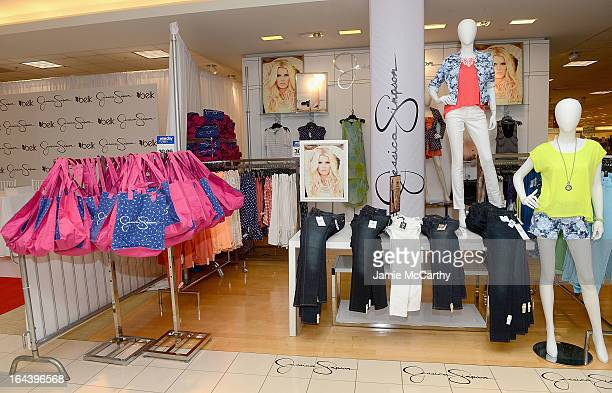 Atmosphere at Ashlee Simpson and Jessica Simpson visit Belk Southpark on March 23 2013 in Charlotte North Carolina