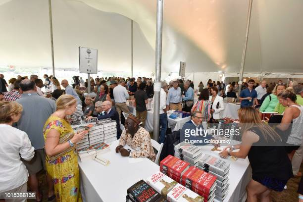 Atmosphere at Authors Night At East Hampton Library on August 11 2018 in East Hampton New York