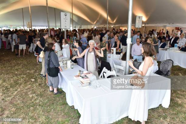 Atmosphere at Authors Night At East Hampton Library on August 11, 2018 in East Hampton, New York.