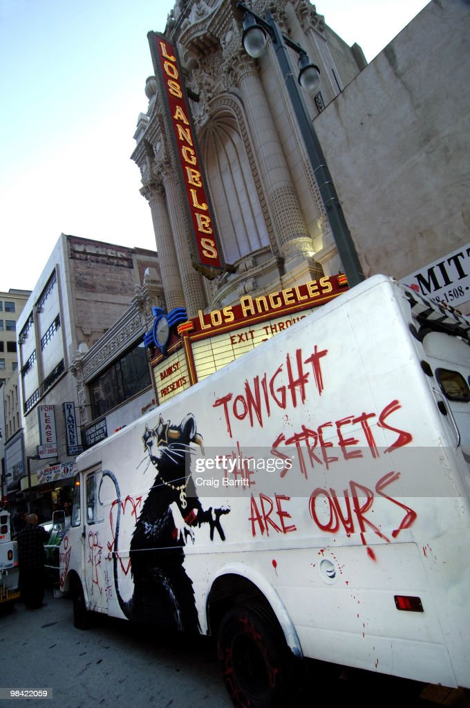 Atmosphere at Banksy's 'Exit Through The Gift Shop' Los Angeles Premiere on April 12, 2010 in Los Angeles, California.