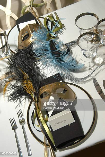 Atmosphere at BERGDORF GOODMAN and The Italian Trade Commission host a dinner with the Young Friends of Save Venice for FARAONE MENNELLA at BG at...