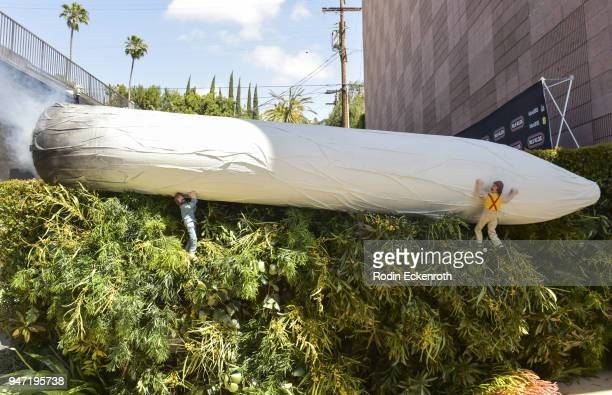 Atmosphere at Cheech Marin and Tommy Chong at the Key to The City of West Hollywood Award Ceremony at The Roxy Theatre on April 16 2018 in West...