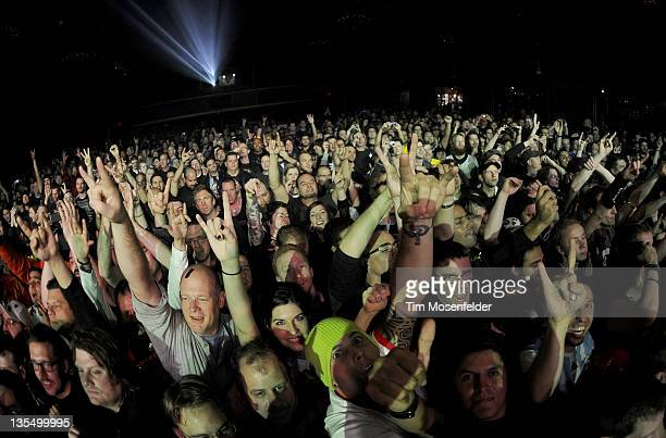 Atmosphere at Day Four of the Metallica 30th Anniversary shows at The Fillmore on December 10 2011 in San Francisco California