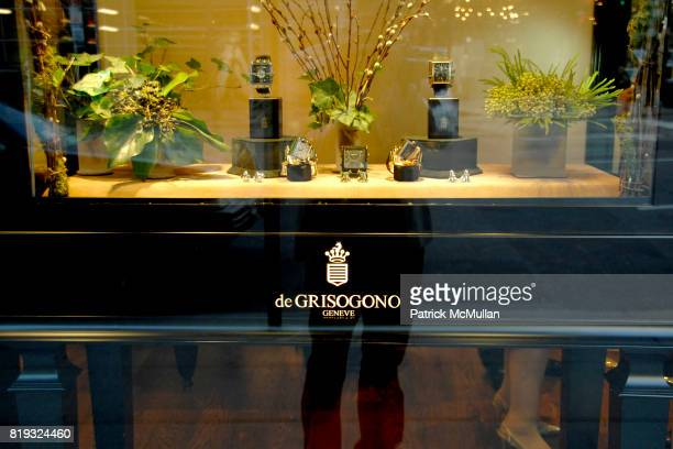 Atmosphere at de Grisogono hosts The Central Park Conservancy's Platinum Jewels in Bloom Cocktail Reception at de Grisogono on April 14 2010 in New...