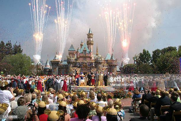 Atmosphere at Disneyland's 50th Anniversary rededication ceremony held at Disneyland on July 17 2005 in Anaheim California