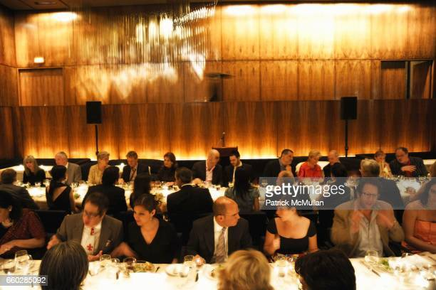 Atmosphere at ENRIQUE NORTEN Private Dinner Celebrating the 25th Anniversary of TEN ARQUITECTOS at The Four Seasons Restaurant on June 8, 2009 in New...