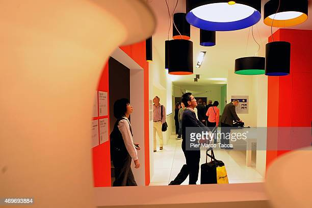 Atmosphere at Fiera Milano Rho at Salone Internazionale Del Mobile during the Milan Design Week 2015 on April 14, 2015 in Milan, Italy.
