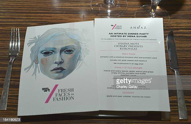 Atmosphere at GenArt's 14th Annual Fresh Faces In Fashion Intimate Dinner at Andaz on October 15 2012 in West Hollywood California