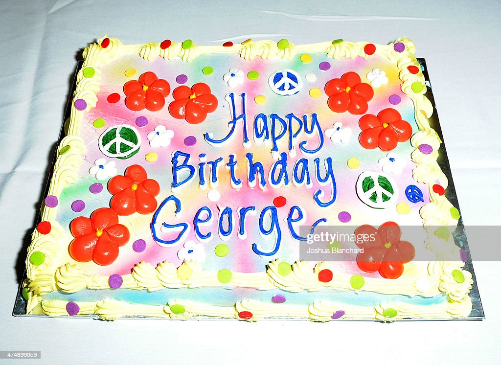 George Harrison 71st Birthday Celebration And Cake-Cutting Ceremony : News Photo