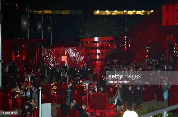 Atmosphere at HBO's post Emmy party following the 56th annual Primetime Emmy Awards held at the Pacific Design Centre on September 19, 2004 in Los...