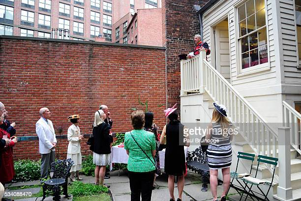 Atmosphere at Historic Royal Palaces Patrons Secret Garden Party at Merchant's House Museum on May 24 2016 in New York City