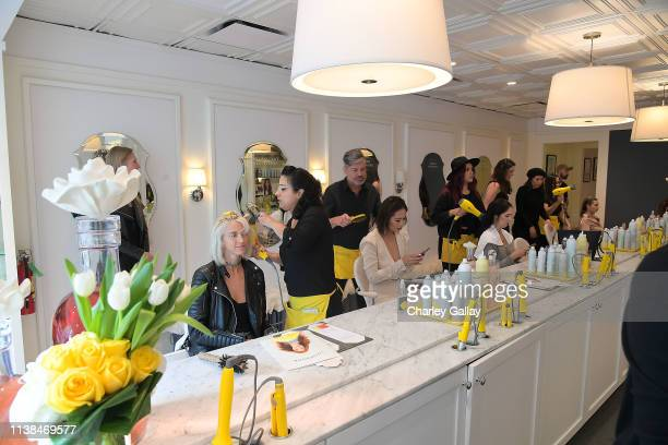 Atmosphere at JNSQ Launches as Official Wine Partner of Drybar Salons Nationwide - LA Launch Party at Drybar Beverly Hills on March 22, 2019 in...