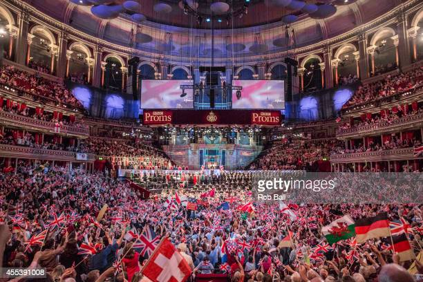 Atmosphere at Last Night Of The Proms at Royal Albert Hall on September 13 2014 in London United Kingdom