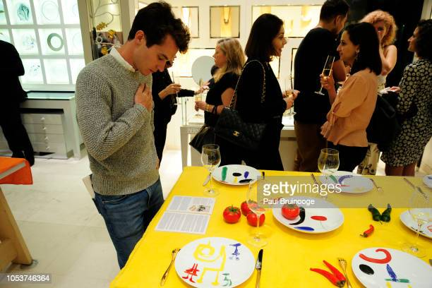 Atmosphere at Launch of 'Parler Seul' collection with Mr Michel Bernardaud and Mr Joan Punyet Miró at Bernardaud Flagship Store on October 10 2018 in...