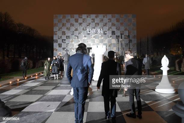 Atmosphere at Le Bal Surrealiste Dior during Haute Couture Spring Summer 2018 show as part of Paris Fashion Week on January 22 2018 in Paris France