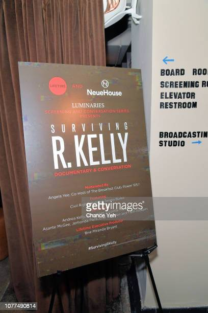 Atmosphere at Lifetime / NeueHouse Luminaries series 'Surviving R Kelly' documentary screening and conversation at Neuehouse NY on December 04 2018...