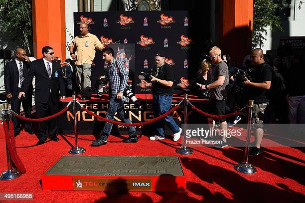 Atmosphere at Lionsgate's The Hunger Games Mockingjay Part 2 Hand And Footprint Ceremony at TCL Chinese Theatre on October 31 2015 in Hollywood...