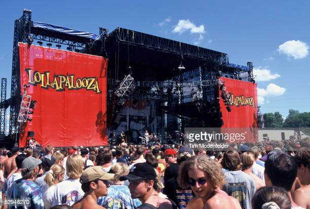 Atmosphere at Lollapalooza 1996 at the Winnebago County Fairgrounds on June 30, 1996 in Rockford ILL.