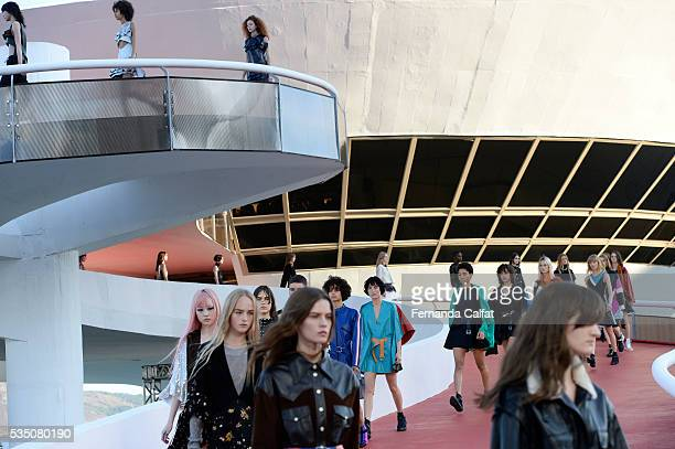 Atmosphere at Louis Vuitton 2017 Cruise Collection at MAC on May 28 2016 in Niteroi Brazil