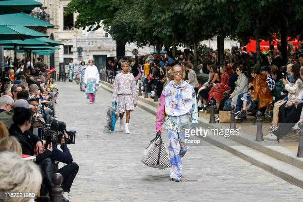 Atmosphere at Louis Vuitton show during Paris Men's Fashion Week Spring/Summer 2020 on June 20, 2019 in Paris, France.