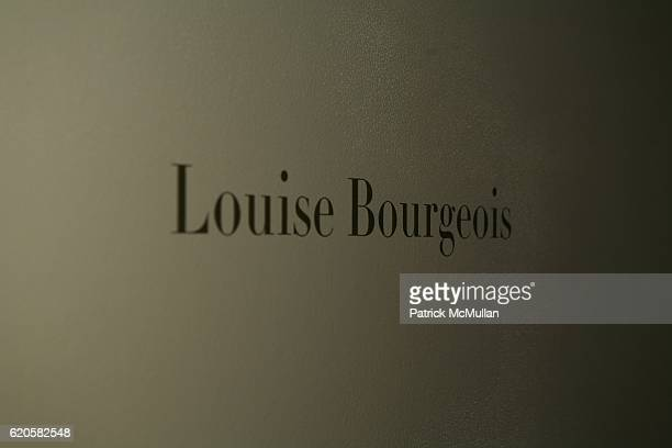 Atmosphere at LOUIS XIII Celebrates WALLPAPER'S Guest Editor LOUISE BOURGEOISE with HELMUT LANG at Cheim Reid and Glasshouses on September 12 2008 in...