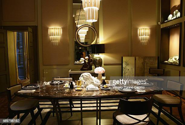 Atmosphere at Meissen Couture Home Collection Presentation during Design Week on April 14 2015 in Milan Italy