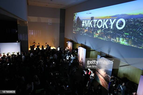 Atmosphere at 'Michael Kors and Miranda Kerr Celebrate Elle Japon December Cover' party at the Gallery of Horyuji Treasures of the Tokyo National...