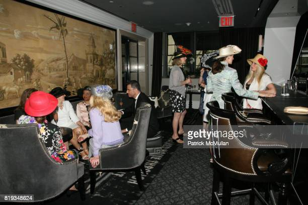 Atmosphere at MichelleMarie Heinemann and Terri Lindvall's 'Bloody Mary and Belini Hat Party' at Bar Pleiades on May 5 2010 in New York