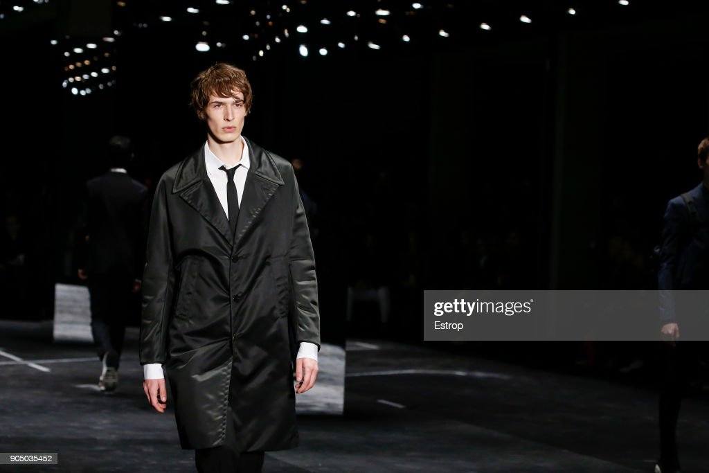 Atmosphere at Neil Barrett show during Milan Men's Fashion Week Fall/Winter 2018/19 on January 13, 2018 in Milan, Italy.