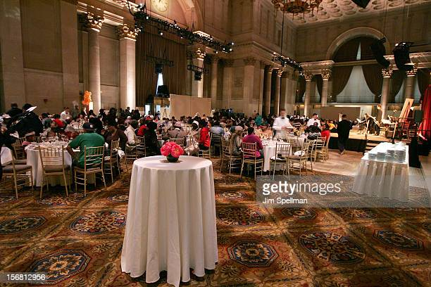 Atmosphere at Our Table Is Yours - A Thanksgiving Dinner Benefit at Cipriani Wall Street on November 21, 2012 in New York City.