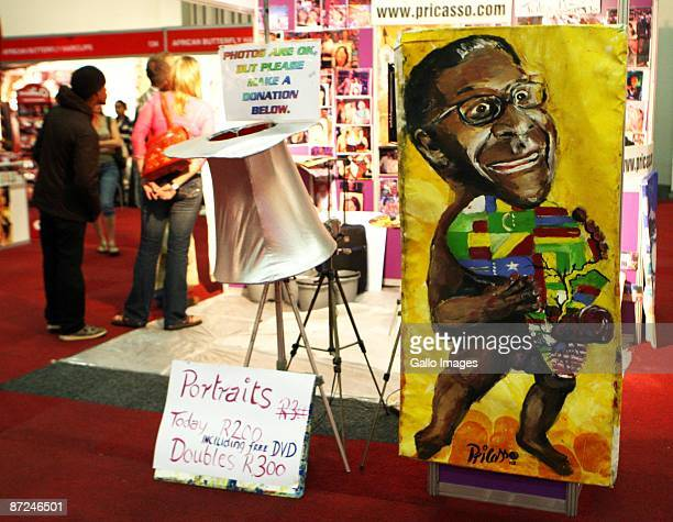 Atmosphere at Pricasso's stall during the Cape Town Sexpo on May 14, 2009 in Cape Town, South Africa. Pricasso is the world's only penile artist,...