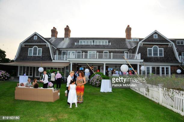 Atmosphere at Summer Reception in Southampton for New YorkPresbyterian Hospital hosted by Heather and Steven Mnuchin and Myrna and John Daniels at...