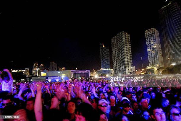 Atmosphere at the 10th Annual Ultra Music Festival at The Bicentennial Park on March 28 2008 in Miami Florida