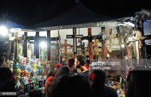 Atmosphere at the 14th Annual 'Dia de Los Muertos' held at Hollywood Forever Cemetary on November 2 2013 in Los Angeles California