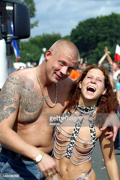 Atmosphere at the 2003 Berlin Love Parade in Germany Job 16041 Ref JHY